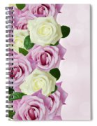 Violet  And White Roses Spiral Notebook