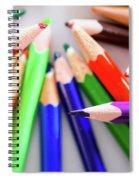 Violet. Colored Pencils Spiral Notebook