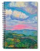 Violet Evening On Rocky Knob Spiral Notebook