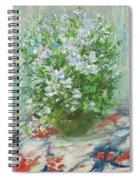 Violet Orychophragmus Spiral Notebook