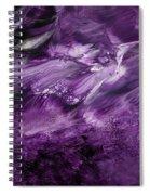 Violet Rhapsody- Art By Linda Woods Spiral Notebook