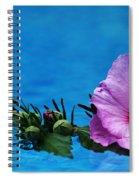 Violet Satin Spiral Notebook