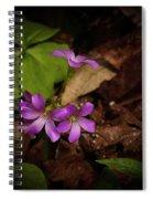 Violet Wood Sorrel Spiral Notebook