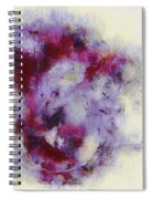 Violets Abstract Spiral Notebook
