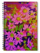 Violets Among The Heather Spiral Notebook