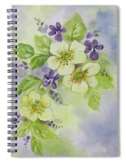 Violets And Wild Roses Spiral Notebook