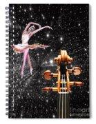 Violin And Ballet Dancer Number 1 Spiral Notebook