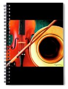 Violin And French Horn Spiral Notebook