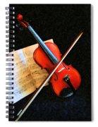 Violin Impression Spiral Notebook