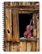 Violin In Window Spiral Notebook