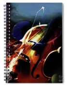 Violin Painting Art 321 Spiral Notebook