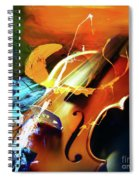Violin Painting Art 51 Spiral Notebook