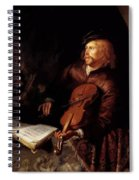 Violin Player 1653 Spiral Notebook