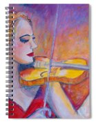 Violin Player Spiral Notebook