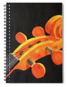 Violin Scroll Spiral Notebook