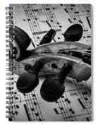 Violin Scroll On Sheet Music Spiral Notebook