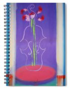Violin Vase Spiral Notebook
