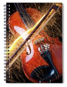 Violin With Sparks Flying From The Bow Spiral Notebook