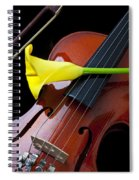 Violin With Yellow Calla Lily Spiral Notebook