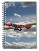 Virgin Airbus A340 G-vgas Spiral Notebook