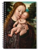 Virgin And Child Spiral Notebook