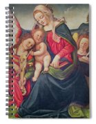 Virgin And Child And Angel Musicians  Spiral Notebook