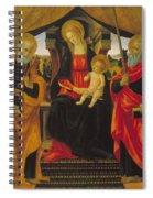 Virgin And Child Between Saint Peter And Saint Paul Spiral Notebook