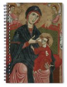 Virgin And Child Enthroned With Saints Leonard And Peter And Scenes From The Life Of Saint Peter Spiral Notebook