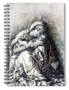 Virgin And Child Madonna Of Humility 1490 Spiral Notebook