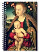 Virgin And Child Under An Apple Tree Spiral Notebook