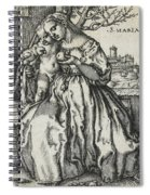 Virgin And Child With A Parrot Spiral Notebook