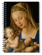 Virgin And Child With A Pear Spiral Notebook