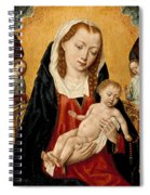 Virgin And Child With Two Angels Spiral Notebook