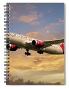 Virgin Atlantic Boeing 787 Dreamliner Spiral Notebook