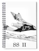 Virgin Galactic Vehicle. Space Ship Two Spiral Notebook
