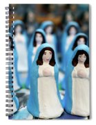 Virgin Mary Figurines Spiral Notebook