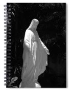 Virgin Mary In Black And White Spiral Notebook