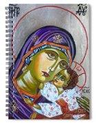 Virgin Of Tenderness Eleusa Spiral Notebook