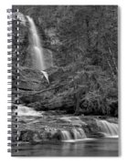 Virgina Falls In The Pool - Black And White Spiral Notebook