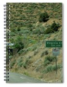 Virginia City Named After Henry Comstock Spiral Notebook