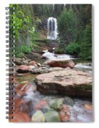 Virginia Falls - Glacier N.p. Spiral Notebook