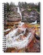 Virginia Falls - Glacier National Park Spiral Notebook