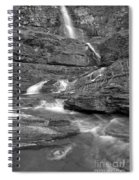 Virginia Falls Switchbacks Black And White Spiral Notebook