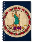 Virginia State Flag Art On Worn Canvas Edition 3 Spiral Notebook