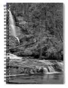 Virgnia Falls Pool - Black And White Spiral Notebook