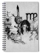 Virgo State Of Mind Spiral Notebook