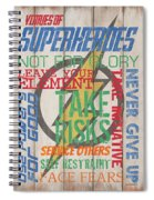 Virtues Of A Superhero Spiral Notebook
