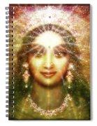 Vision Of The Goddess - Light Spiral Notebook