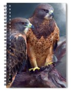 Vision Of The Hawk Spiral Notebook