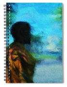 Visionary Roundabout Scene Spiral Notebook